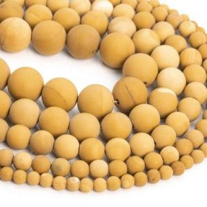 Shop Mookaite Jasper Round Beads! Genuine Natural Matte Yellow Mookaite Loose Beads Round Shape 6mm 8mm 10mm | Natural genuine round Mookaite Jasper beads for beading and jewelry making.  #jewelry #beads #beadedjewelry #diyjewelry #jewelrymaking #beadstore #beading #affiliate #ad