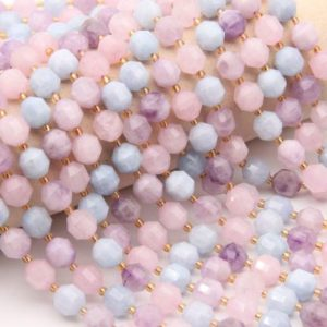 Shop Morganite Bracelets! Natura Morganite Beads,Round Faceted Beads,For Jewelry Making Beads,DIY Making Beads,Bracelet/Neckelace Beads,Good Quality Gemstone Beads. | Natural genuine Morganite bracelets. Buy crystal jewelry, handmade handcrafted artisan jewelry for women.  Unique handmade gift ideas. #jewelry #beadedbracelets #beadedjewelry #gift #shopping #handmadejewelry #fashion #style #product #bracelets #affiliate #ad