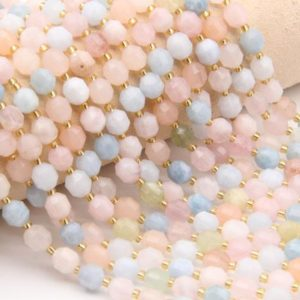 Shop Morganite Bracelets! Natural Morganite Beads,Round Faceted Beads,For Jewelry Making Beads,DIY Making Beads,Bracelet/Neckelace Beads,Good Quality Gemstone Beads | Natural genuine Morganite bracelets. Buy crystal jewelry, handmade handcrafted artisan jewelry for women.  Unique handmade gift ideas. #jewelry #beadedbracelets #beadedjewelry #gift #shopping #handmadejewelry #fashion #style #product #bracelets #affiliate #ad
