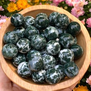 Shop Moss Agate Shapes! Moss Agate Mini Sphere – Moss Agate Stone – Moss Agate Crystal Sphere – Healing Crystals – Healing Stones – Natural Stones – Sacred Stones | Natural genuine stones & crystals in various shapes & sizes. Buy raw cut, tumbled, or polished gemstones for making jewelry or crystal healing energy vibration raising reiki stones. #crystals #gemstones #crystalhealing #crystalsandgemstones #energyhealing #affiliate #ad