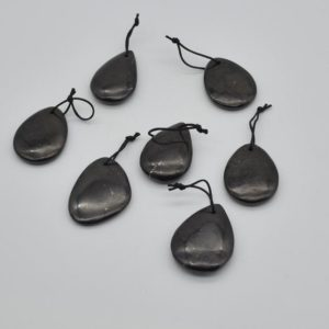 Shop Shungite Beads! Natural Shungite Teardrop Shaped Semi-precious Gemstone Pendant – Approx  4cm x 3cm – 1  count | Natural genuine other-shape Shungite beads for beading and jewelry making.  #jewelry #beads #beadedjewelry #diyjewelry #jewelrymaking #beadstore #beading #affiliate #ad
