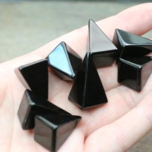 Shop Obsidian Shapes! Obsidian Small Tall Pyramid M96 | Natural genuine stones & crystals in various shapes & sizes. Buy raw cut, tumbled, or polished gemstones for making jewelry or crystal healing energy vibration raising reiki stones. #crystals #gemstones #crystalhealing #crystalsandgemstones #energyhealing #affiliate #ad