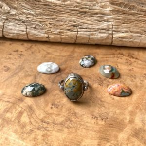 Shop Ocean Jasper Rings! Chloe Ring – Ocean Jasper Ring – .925 Sterling Silver – OOAK Ladymith Ring – One of a Kind Ring | Natural genuine Ocean Jasper rings, simple unique handcrafted gemstone rings. #rings #jewelry #shopping #gift #handmade #fashion #style #affiliate #ad