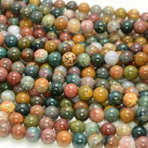 8mm Ocean Jasper Gemstone Grade AAA Round 8mm Loose Beads 15.5 inch Full Strand (90147020-168) | Natural genuine beads Ocean Jasper beads for beading and jewelry making.  #jewelry #beads #beadedjewelry #diyjewelry #jewelrymaking #beadstore #beading #affiliate #ad