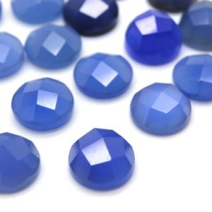 Shop Onyx Cabochons! GCF-1181 – Blue Onyx Faceted Cabochon – Round 8mm – Gemstone Cabochon – AA Quality – 1 Pc | Natural genuine stones & crystals in various shapes & sizes. Buy raw cut, tumbled, or polished gemstones for making jewelry or crystal healing energy vibration raising reiki stones. #crystals #gemstones #crystalhealing #crystalsandgemstones #energyhealing #affiliate #ad