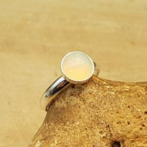 Shop Opal Rings! Ethiopian Opal Ring. 14th Anniversary. October Birthstone. Adjustable Ring. 8mm Gemstone. 925 Sterling Silver Stacking Rings For Women | Natural genuine Opal rings, simple unique handcrafted gemstone rings. #rings #jewelry #shopping #gift #handmade #fashion #style #affiliate #ad