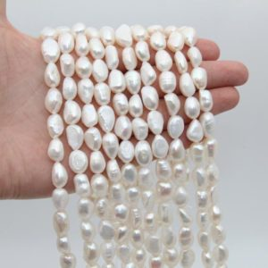 Shop Freshwater Pearls! 10~11MM Nugget Pearl Beads,White Color Pearl,Natural Freshwater Pearl Beads,Seed Pearl,Luster Pearl,Loose Pearl Strand Beads,Pearl Jewelry. | Natural genuine beads Pearl beads for beading and jewelry making.  #jewelry #beads #beadedjewelry #diyjewelry #jewelrymaking #beadstore #beading #affiliate #ad