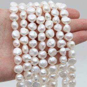 Shop Freshwater Pearls! 11~12MM Nugget Pearl Beads,White Color Pearl,Natural Freshwater Pearl Beads,Seed Pearl,Luster Pearl,Loose Pearl Strand Beads,Pearl Jewelry. | Natural genuine beads Pearl beads for beading and jewelry making.  #jewelry #beads #beadedjewelry #diyjewelry #jewelrymaking #beadstore #beading #affiliate #ad