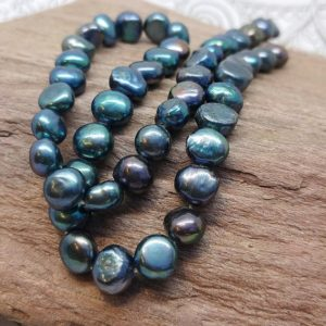 Shop Pearl Bead Shapes! Freshwater Pearl beads Blue Green Teal Peacock Two tone 8 x 7 mm Beach Sea Ocean Beads / Pirate Pearl Beads / June Birthstone Beads 2 BEADS | Natural genuine other-shape Pearl beads for beading and jewelry making.  #jewelry #beads #beadedjewelry #diyjewelry #jewelrymaking #beadstore #beading #affiliate #ad