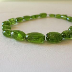 """Shop Peridot Chip & Nugget Beads! Natural Peridot Tumbled Beads 13.5"""" Strand. Smooth Peridot Nugget Beads 10×13 To 16x24mm Freeform Beads For Jewelry 