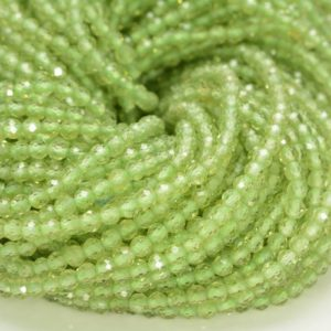 Shop Peridot Faceted Beads! 2mm Peridot Gemstone Micro Faceted Round Grade Aaa Beads 15.5inch Wholesale (80010182-a194) | Natural genuine faceted Peridot beads for beading and jewelry making.  #jewelry #beads #beadedjewelry #diyjewelry #jewelrymaking #beadstore #beading #affiliate #ad