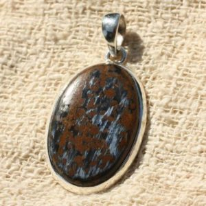 Shop Pietersite Pendants! Pendant Silver 925 and Pietersite oval 34x21mm | Natural genuine Pietersite pendants. Buy crystal jewelry, handmade handcrafted artisan jewelry for women.  Unique handmade gift ideas. #jewelry #beadedpendants #beadedjewelry #gift #shopping #handmadejewelry #fashion #style #product #pendants #affiliate #ad