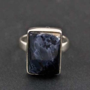 Shop Pietersite Rings! Sterling Silver Pietersite Ring Size 8 | Natural genuine Pietersite rings, simple unique handcrafted gemstone rings. #rings #jewelry #shopping #gift #handmade #fashion #style #affiliate #ad