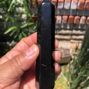 Shop Shungite Points & Wands! Polished Shungite Round Bottom Wand | Natural genuine stones & crystals in various shapes & sizes. Buy raw cut, tumbled, or polished gemstones for making jewelry or crystal healing energy vibration raising reiki stones. #crystals #gemstones #crystalhealing #crystalsandgemstones #energyhealing #affiliate #ad