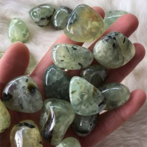 Shop Tumbled Prehnite Crystals & Pocket Stones! Tumbled Prenite, Prehnite Pebble, Prehnite Tumble, Prenite Epidot, Truth, Calmness, Serenity | Natural genuine stones & crystals in various shapes & sizes. Buy raw cut, tumbled, or polished gemstones for making jewelry or crystal healing energy vibration raising reiki stones. #crystals #gemstones #crystalhealing #crystalsandgemstones #energyhealing #affiliate #ad