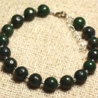 Bracelet 925 Sterling Silver And Gemstone – Pyrite Green 8 Mm | Natural genuine Gemstone jewelry. Buy crystal jewelry, handmade handcrafted artisan jewelry for women.  Unique handmade gift ideas. #jewelry #beadedjewelry #beadedjewelry #gift #shopping #handmadejewelry #fashion #style #product #jewelry #affiliate #ad
