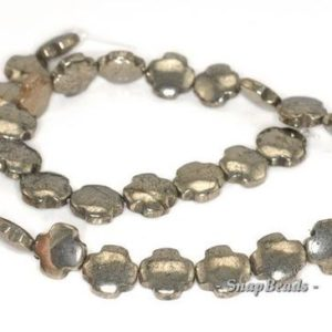 Shop Pyrite Bead Shapes! 12mm Palazzo Iron Pyrite Gemstone Cross 12mm Loose Beads 7.5 inch Half Strand (90145099-411) | Natural genuine other-shape Pyrite beads for beading and jewelry making.  #jewelry #beads #beadedjewelry #diyjewelry #jewelrymaking #beadstore #beading #affiliate #ad