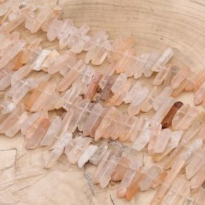 Shop Quartz Chip & Nugget Beads! Natural Raw Crystals Quartz Point Beads,High Quality Crystals Point Beads,Top Drilled Crystals Quartz Beads,Necklaces Crystals Jewelry Beads | Natural genuine chip Quartz beads for beading and jewelry making.  #jewelry #beads #beadedjewelry #diyjewelry #jewelrymaking #beadstore #beading #affiliate #ad