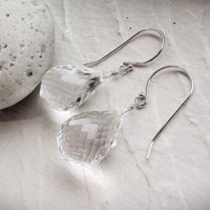 Shop Quartz Crystal Earrings! Quartz Gemstone Earrings WINTER | Natural genuine Quartz earrings. Buy crystal jewelry, handmade handcrafted artisan jewelry for women.  Unique handmade gift ideas. #jewelry #beadedearrings #beadedjewelry #gift #shopping #handmadejewelry #fashion #style #product #earrings #affiliate #ad