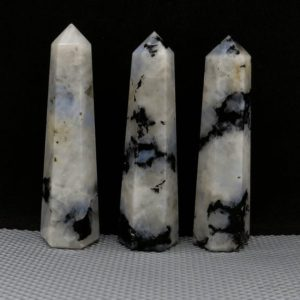 """Rainbow Moonstone Crystal Tower ~ Natural Crystal Point Obelisk for Reiki Healing and Crystal Grid ~ AAA+ Moonstone Tower ~ 2"""" to 4"""" INCH 