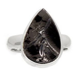 Shop Shungite Rings! Raw Shungite Ring Size 7.5 – elite shungite ring – shungite jewelry – shungite elite – noble shungite sterling silver – Shungite Stone 1067 | Natural genuine Shungite rings, simple unique handcrafted gemstone rings. #rings #jewelry #shopping #gift #handmade #fashion #style #affiliate #ad