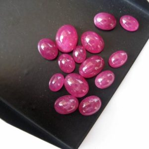 Shop Ruby Cabochons! 5 Pieces 6mm To 10mm Natural Ruby Smooth Oval Shaped Flat Back Loose Cabochons BB335 | Natural genuine stones & crystals in various shapes & sizes. Buy raw cut, tumbled, or polished gemstones for making jewelry or crystal healing energy vibration raising reiki stones. #crystals #gemstones #crystalhealing #crystalsandgemstones #energyhealing #affiliate #ad