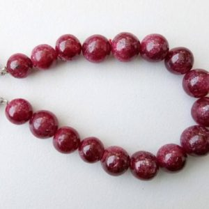 Shop Ruby Necklaces! 8.5-11mm Ruby Plain Round Balls, Ruby Jewelry, Ruby For Necklace, 6 Inches Ruby Smooth Plain Round Beads, Ruby Beads, 17 Pcs  – PS5134 | Natural genuine Ruby necklaces. Buy crystal jewelry, handmade handcrafted artisan jewelry for women.  Unique handmade gift ideas. #jewelry #beadednecklaces #beadedjewelry #gift #shopping #handmadejewelry #fashion #style #product #necklaces #affiliate #ad