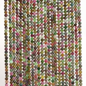 Shop Ruby Zoisite Faceted Beads! 2mm Genuine Brazil Ruby Zoisite Gemstone Grade AAA Multi Color Micro Faceted Round Loose Beads 15.5 inch Full Strand (80004633-344) | Natural genuine faceted Ruby Zoisite beads for beading and jewelry making.  #jewelry #beads #beadedjewelry #diyjewelry #jewelrymaking #beadstore #beading #affiliate #ad
