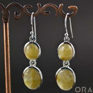 Shop Rutilated Quartz Earrings! Sterling Silver Rutilated Quartz Earrings | Natural genuine Rutilated Quartz earrings. Buy crystal jewelry, handmade handcrafted artisan jewelry for women.  Unique handmade gift ideas. #jewelry #beadedearrings #beadedjewelry #gift #shopping #handmadejewelry #fashion #style #product #earrings #affiliate #ad