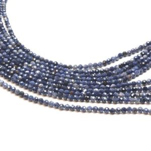 "Shop Sapphire Beads! Small sapphire beads,sapphire stone,September birthstone beads,diy beads,natural sapphire beads,precious gemstone beads – 16"" Full Strand 