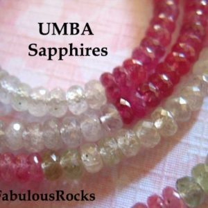 Shop Sapphire Rondelle Beads! 10-50 pcs /  Umba SAPPHIRE Gemstone Beads Rondelles / Shaded Pink & Platinum Gray, AAA, 4-4.5 mm / September Birthstone Roundels tr s solo | Natural genuine rondelle Sapphire beads for beading and jewelry making.  #jewelry #beads #beadedjewelry #diyjewelry #jewelrymaking #beadstore #beading #affiliate #ad