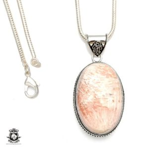 Shop Scolecite Pendants! Scolecite Pendant 4mm Italian Snake Chain V187 | Natural genuine Scolecite pendants. Buy crystal jewelry, handmade handcrafted artisan jewelry for women.  Unique handmade gift ideas. #jewelry #beadedpendants #beadedjewelry #gift #shopping #handmadejewelry #fashion #style #product #pendants #affiliate #ad