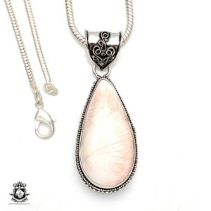 Shop Scolecite Pendants! Scolecite Pendant 4mm Italian Snake Chain V186 | Natural genuine Scolecite pendants. Buy crystal jewelry, handmade handcrafted artisan jewelry for women.  Unique handmade gift ideas. #jewelry #beadedpendants #beadedjewelry #gift #shopping #handmadejewelry #fashion #style #product #pendants #affiliate #ad