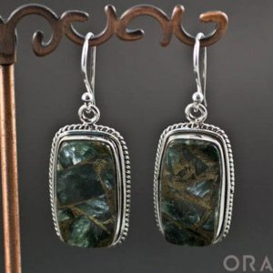 Shop Seraphinite Earrings! Sterling Silver Seraphinite Earrings | Natural genuine Seraphinite earrings. Buy crystal jewelry, handmade handcrafted artisan jewelry for women.  Unique handmade gift ideas. #jewelry #beadedearrings #beadedjewelry #gift #shopping #handmadejewelry #fashion #style #product #earrings #affiliate #ad