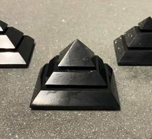 Shop Shungite Shapes! Shungite Stacked Pyramid | Natural genuine stones & crystals in various shapes & sizes. Buy raw cut, tumbled, or polished gemstones for making jewelry or crystal healing energy vibration raising reiki stones. #crystals #gemstones #crystalhealing #crystalsandgemstones #energyhealing #affiliate #ad