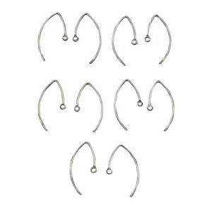 Shop Ear Wires & Posts for Making Earrings! Silver Ear Wires for Jewelry Making, Sterling Silver 925 V Shaped Earring Hooks 10 Qty(5 Pairs),Closed Ring, Size Approx 14×19 MM | Shop jewelry making and beading supplies, tools & findings for DIY jewelry making and crafts. #jewelrymaking #diyjewelry #jewelrycrafts #jewelrysupplies #beading #affiliate #ad