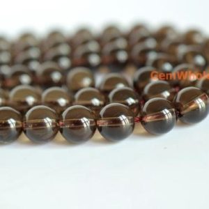 "Shop Smoky Quartz Beads! 15.5"" Natural Smoky Quartz 8mm Round Beads, Gemstone Diy Beads, smoky Color Semi-precious Stone, Gemstone Wholesale, Natural Crystal Beads 