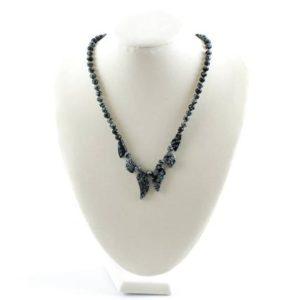 Shop Snowflake Obsidian Necklaces! Snowflake Obsidian Necklace, Snowflake Obsidian Necklaces, Snowflake Obsidian Crystal, Snowflake Obsidian Jewelry, Obsidian, RhodopeMinerals | Natural genuine Snowflake Obsidian necklaces. Buy crystal jewelry, handmade handcrafted artisan jewelry for women.  Unique handmade gift ideas. #jewelry #beadednecklaces #beadedjewelry #gift #shopping #handmadejewelry #fashion #style #product #necklaces #affiliate #ad