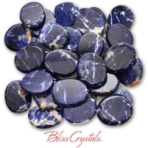 Shop Sodalite Shapes! 1 SODALITE Palm Stone Large Size Healing Crystal and Stone for Intuition #MS51 | Natural genuine stones & crystals in various shapes & sizes. Buy raw cut, tumbled, or polished gemstones for making jewelry or crystal healing energy vibration raising reiki stones. #crystals #gemstones #crystalhealing #crystalsandgemstones #energyhealing #affiliate #ad