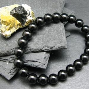Shop Spinel Bracelets! Black Spinel Genuine Bracelet ~ 7 Inches  ~ 8mm Round Beads | Natural genuine Spinel bracelets. Buy crystal jewelry, handmade handcrafted artisan jewelry for women.  Unique handmade gift ideas. #jewelry #beadedbracelets #beadedjewelry #gift #shopping #handmadejewelry #fashion #style #product #bracelets #affiliate #ad