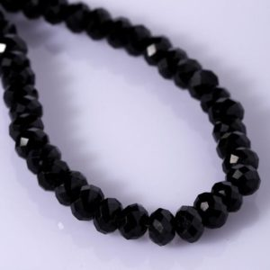 Shop Spinel Necklaces! Black Spinel Beaded Necklace Faceted Rondelle Beads Semi Precious Beads Gemstone Beads Spinel Beads Black Spinel Jewelry Christams Gift | Natural genuine Spinel necklaces. Buy crystal jewelry, handmade handcrafted artisan jewelry for women.  Unique handmade gift ideas. #jewelry #beadednecklaces #beadedjewelry #gift #shopping #handmadejewelry #fashion #style #product #necklaces #affiliate #ad