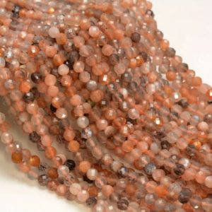 Shop Sunstone Faceted Beads! 3mm Multi Color Sunstone Gemstone Grade Aaa Micro Faceted Round Beads 15.5 Inch Full Strand Bulk Lot 1, 2, 6, 12 And 50(80006520-a204) | Natural genuine faceted Sunstone beads for beading and jewelry making.  #jewelry #beads #beadedjewelry #diyjewelry #jewelrymaking #beadstore #beading #affiliate #ad