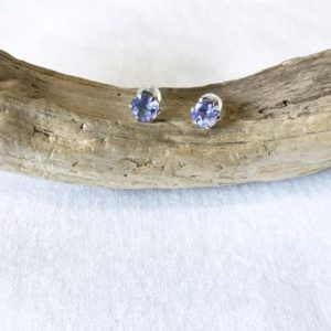 Shop Tanzanite Earrings! 10k Yellow Gold Natural Tanzanite (3.0 Ct) Stud Earrings, Appraised 1, 560cad | Natural genuine Tanzanite earrings. Buy crystal jewelry, handmade handcrafted artisan jewelry for women.  Unique handmade gift ideas. #jewelry #beadedearrings #beadedjewelry #gift #shopping #handmadejewelry #fashion #style #product #earrings #affiliate #ad