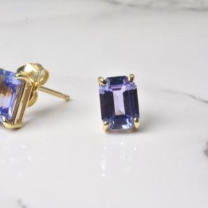 Shop Tanzanite Earrings! Tanzanite Earrings in 14k Gold | Solid 14k Gold | Fine Jewelry | Free Shipping | December Birthstone | Tanzanite Stud Earrings | | Natural genuine Tanzanite earrings. Buy crystal jewelry, handmade handcrafted artisan jewelry for women.  Unique handmade gift ideas. #jewelry #beadedearrings #beadedjewelry #gift #shopping #handmadejewelry #fashion #style #product #earrings #affiliate #ad