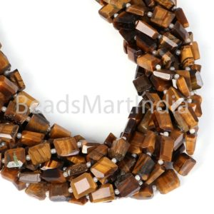 Shop Tiger Eye Chip & Nugget Beads! Tiger Eye Faceted Nugget Fancy Beads, Tiger Eye Nugget Beads, Tiger Eye Faceted Nuggets Beads, Tiger Eye Nugget Fancy Beads, Tiger Eye Beads | Natural genuine chip Tiger Eye beads for beading and jewelry making.  #jewelry #beads #beadedjewelry #diyjewelry #jewelrymaking #beadstore #beading #affiliate #ad
