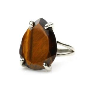 Shop Tiger Eye Rings! Pear Cut Ring · Tiger Eye Ring · Teardrop Ring · Sterling Silver Ring · Gemstone Ring For Women · Pear Shape Ring · 925 Silver Ring   Natural genuine Tiger Eye rings, simple unique handcrafted gemstone rings. #rings #jewelry #shopping #gift #handmade #fashion #style #affiliate #ad