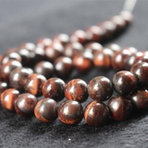 Shop Tiger Eye Round Beads! Natural Red Tigereye Smooth and Round Beads,6mm/8mm/10mm/12mm Tigereye Beads Bulk Supply,15 inches one starand | Natural genuine round Tiger Eye beads for beading and jewelry making.  #jewelry #beads #beadedjewelry #diyjewelry #jewelrymaking #beadstore #beading #affiliate #ad
