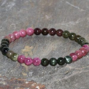 Shop Tourmaline Bracelets! 6mm Multicolor Tourmaline Stacking Bracelet. Rainbow Tourmaline Bracelet. Dispels Fear. Attracts Love, Personal Power and Joy. Chakra Bracel | Natural genuine Tourmaline bracelets. Buy crystal jewelry, handmade handcrafted artisan jewelry for women.  Unique handmade gift ideas. #jewelry #beadedbracelets #beadedjewelry #gift #shopping #handmadejewelry #fashion #style #product #bracelets #affiliate #ad