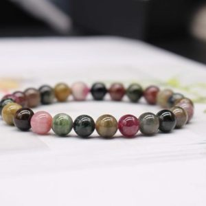 Shop Tourmaline Bracelets! Natural Multicolor Tourmaline Beaded Bracelet,Tourmaline Beads Bracelet,Jewelry Gift Bracelet,wholesale bracelet,bulk bracelet supply | Natural genuine Tourmaline bracelets. Buy crystal jewelry, handmade handcrafted artisan jewelry for women.  Unique handmade gift ideas. #jewelry #beadedbracelets #beadedjewelry #gift #shopping #handmadejewelry #fashion #style #product #bracelets #affiliate #ad