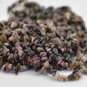 """Shop Tourmaline Chip & Nugget Beads! High Quality Grade A Natural Multi-Colour Tourmaline Semi-precious Gemstone Chips Nuggets Beads – 5mm – 8mm, approx 36"""" Strand 